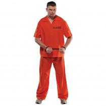 Amscan Mens Prisoner Halloween Costume Standard