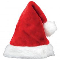 Amscan 15 in. x 11 in. Santa Christmas Plush Hat (3-Pack)