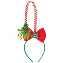 Amscan 14 in. x 4.5 in. Mistletoe Christmas Deluxe Headband (3-Pack)