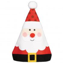 Amscan 15 in. x 12 in. Whimsical Santa Christmas Hat (3-Pack)