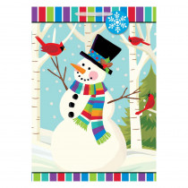 Amscan 28 in. x 20 in. x 7 in. Christmas Smiling Snowman Glitter Paper Jumbo Bag (5-Pack)
