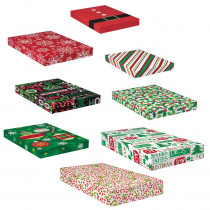 Amscan Christmas Paper Gift Box Assortment (8-Count 2-Pack)