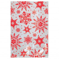 Amscan 6 in. x 4 in. x Christmas Snowflake Cello Treat Bag (25-Count 7-Pack)