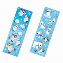 Amscan Winter Fun Christmas Stickers (8-Count 11-Pack)
