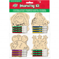 Amscan 3.5 in. x 3 in. Christmas Ornament Decorating Kit Assortment (12-Count)