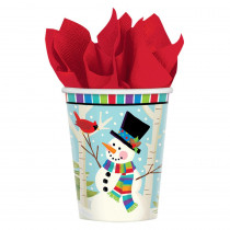 Amscan Cocktail 5 in. x 5 in. Paper Christmas Beverage Napkins (16-Count, 5-Pack)