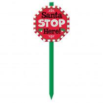 Amscan Santa Stop Here 28.5 in. Christmas Yard Sign (3-Pack)