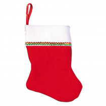 Amscan 4.25 in. x 3 in. Felt Christmas Stockings (6-Count, 4-Pack)