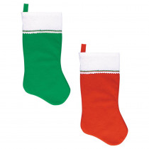 Amscan 17 in. x 9 in. Felt Red and Green Christmas Stockings (4-Count, 3-Pack)