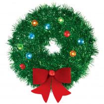 Amscan 6.5 in. x 6.5 in. Christmas Mini Tinsel Wreath (5-Pack)