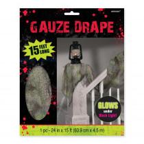 Amscan 15 ft. x 2 ft. Halloween Gauze Drape (2-Pack)