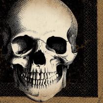 Amscan 6.5 in. x 6.5 in. Halloween Skull Lunch Napkin (125-Count )
