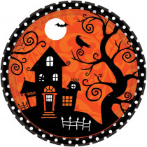 Amscan 10.5 in. x 10.5 in. Halloween Frightfully Fancy Plate (18-Count, 3-Pack)