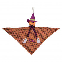 Amscan 24 in. Halloween Small Jack-O'-Lantern Hanging Decoration (4-Pack)