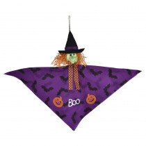 Amscan 24 in. Halloween Small Witch Hanging Decoration (4-Pack)