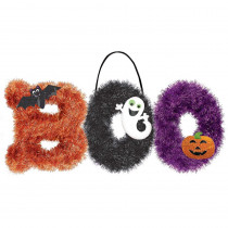Amscan 10.5 in. x 18 in. Boo Tinsel Decoration (2-Pack)