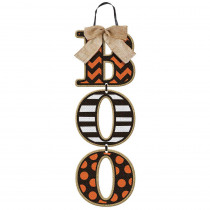 Amscan 18 in. x 6 in. Halloween Boo Specialty Triple Sign (3-Pack)
