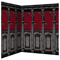 Amscan 48 in. Halloween Gothic Mansion Scene Setter Room Roll (2-Pack)