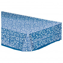 Amscan Star of David Rectangular Clear Plastic Table Cover (5-Pack)