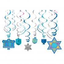 Amscan Hanukkah Swirl Decorations (12-Count, 3-Pack)