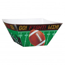 Amscan 10.5 in. x 5 in. Football Field Paper Snack Bowls