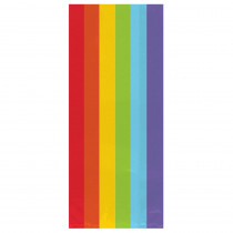 Amscan 11.5 in. x 5 in. Rainbow Cellophane Party Bags (25-Count, 9-Pack)