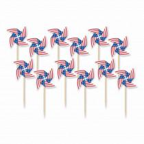 Amscan 3 in. Pinwheel Flag Picks (20-Count, 9-Pack)