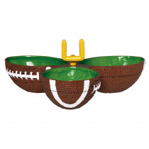 Amscan 2.25 in. x 4.75 in. Football Condiment Dish