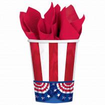 Amscan 3.75 in. American Pride 9 Oz. Paper Cups (50-count, 2-Pack)