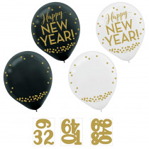 Amscan 0.3 in. Customize able New Year's Countdown Latex Balloons