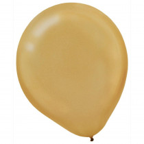 Amscan 9 in. Gold Pearl Latex Balloons (20-Count,18-Pack)