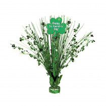 Amscan 15 in. Happy St. Patrick's Day Foil Spray Centerpiece (2-Pack)