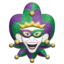 Amscan 28 in. Mardi Gras Plastic Jester 3D Decoration (2-Pack)