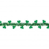 Amscan 1.5 in. x 15 ft. St. Patrick's Day Green Tinsel Shamrock Garland (2-Pack)