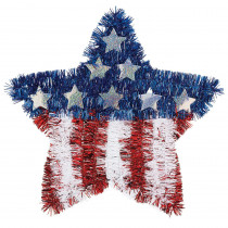 Amscan 11.5 in. x 12 in. Flag Tinsel Star (6-Pack)