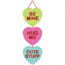 Amscan 18 in. Valentine's Day Conversation Hearts Stacked Sign (4-Pack)