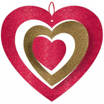 Amscan 11 in. Valentine's Day Spinning Heart Hanging Decoration (5-Pack)