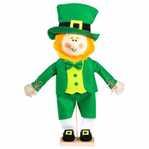 Amscan 24 in. x 13 in. St. Patrick's Day MDF, Fabric Leprechaun Standing Decoration (2-Pack)