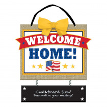 Amscan 12.5 in. x 10.5 in. Welcome Home Chalkboard Sign (2-Pack)