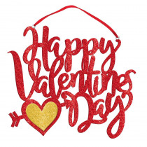 Amscan 10 in. Valentine's Day Happy Valentine's Day Hanging Decoration (4-Pack)