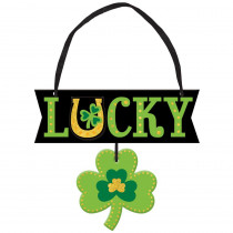 Amscan 5.25 in. x 6 in. St. Patrick's Day MDF Lucky Sign (6-Pack)