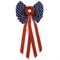Amscan 28 in. x 14 in. Patriotic Flocked Bow (3-Pack)