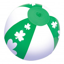 Amscan 7 in. St. Patrick's Day Green and White Vinyl Shamrock Inflatable Ball (22-Pack)