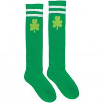 Amscan Green Shamrock St. Patrick's Day Athletic Knee High Socks (2-Count, 2-Pack)