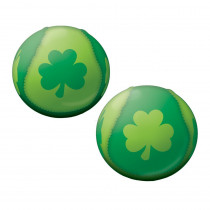Amscan 2 in. St. Patrick's Day Green Foam, Polyester Shamrock Ball (20-Pack)