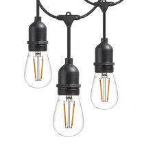 Newhouse Lighting 48 ft. 2-Watt Outdoor Weatherproof LED String Light with S14 LED Filament Light Bulbs Included