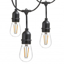Newhouse Lighting 25 ft. Outdoor String Lights Commercial Grade LED Hanging Lights - 9 Light Bulbs Included