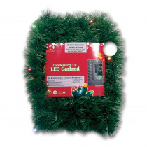 Brite Star Micro Mini 18 ft. Pre-Lit LED Battery Operated Pine Garland with Multi-Colored Lights