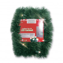 Brite Star Micro Mini 18 ft. Pre-Lit LED Battery Operated Pine Garland with Warm White Lights