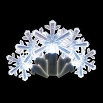 Brite Star 35-Light LED White Snowflake Shaped Light Set